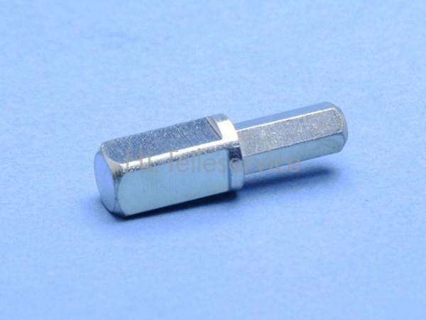 Zapfen 8mm Vierkant / Zapfen 6mm Sechskant