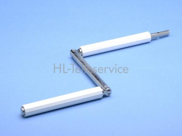 Knickgelenk Stahl 9mm - weiss