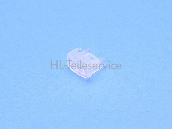 Endkappe 19mm mit Loch neue Ausführung -transparent