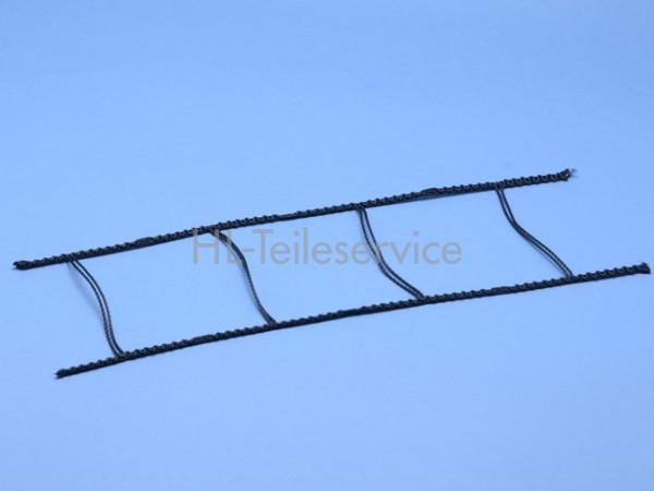 Leiterkordel 80 mm -schwarz (steife Qal.)