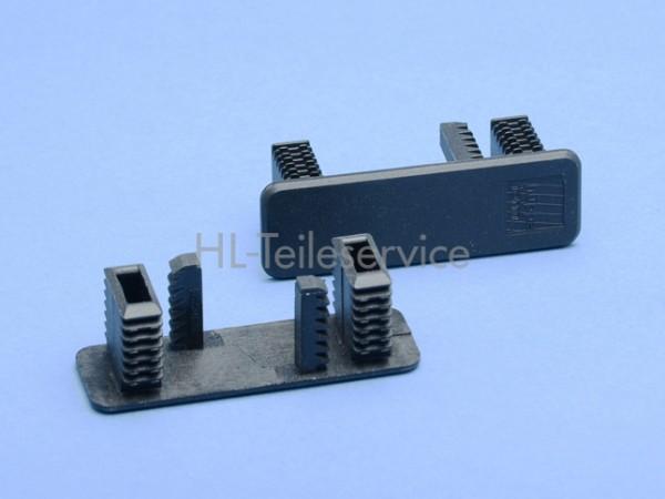 Endkappe 66mm -schwarz -geschlossen