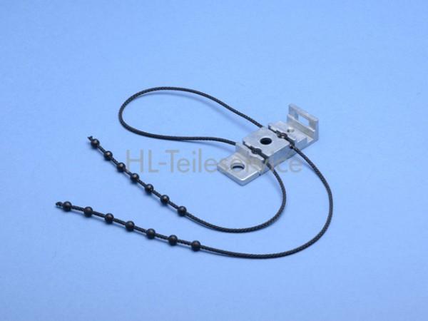 Mitnehmer mit Perlenkette  links (Metall)