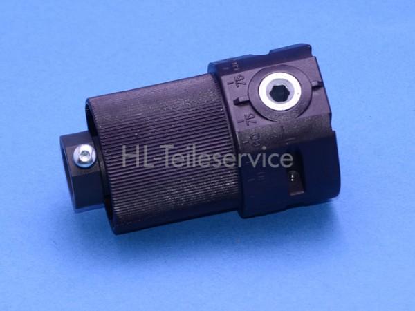 Getriebe Kunststoff 2:1 ohne Ansatz, ohne Zapfen für 14mm Nutrohr