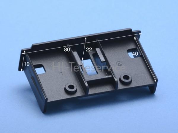 Endkappe 80 x 22 mm - schwarz