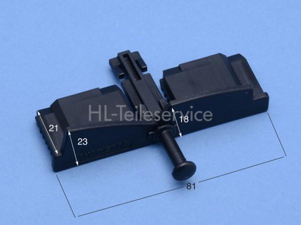 Endkappe - geschlossen - schwarz - 80 mm