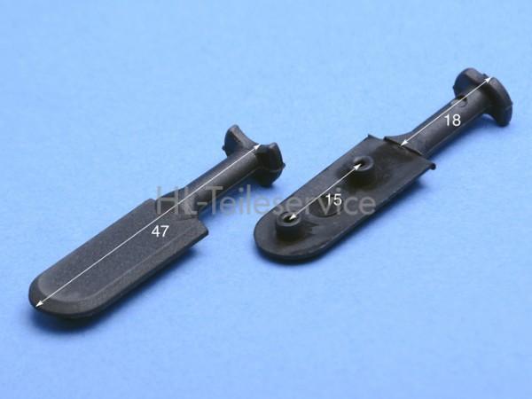 Nippel 47 mm zum verschweißen-schwarz