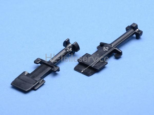 Nippel lang  - 52mm  - schwarz