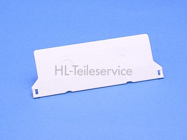 Beschwerungsplatte weiss 127 mm für Vertikal-Lamellen