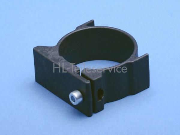 Support 57x51 mm, schwarz mit Schraube