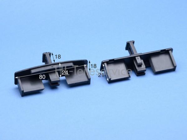 Endkappe mit Führ.stift-schwarz - 80 mm