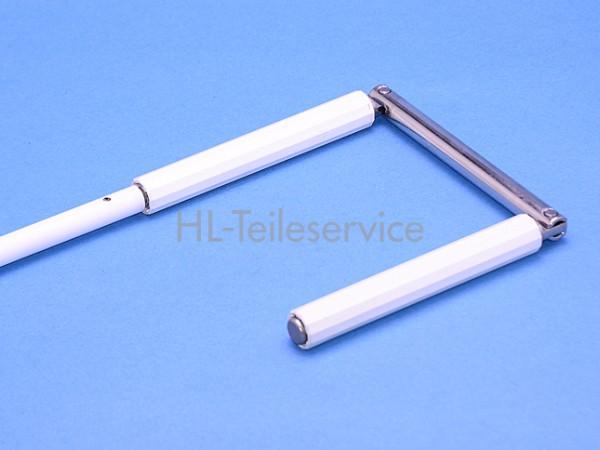 Kurbel 9mm komplett -weiß