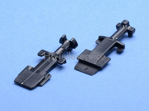 Nippel  kurz - 45 mm - schwarz