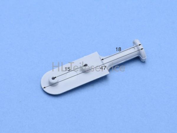 Nippel 47 mm zum verschweißen-grau