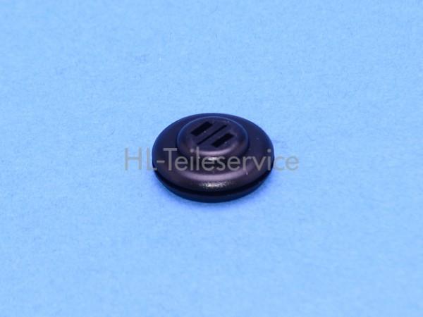 Gummipfropfen CeGeDe D20mm mit 3 Schlitzen - schwarz für Unterleiste