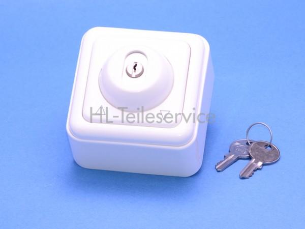 Schlüssellrast- /Tastschalter UP 1-polig ultraweiss