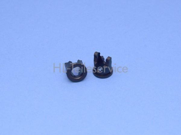 Durchführung Hüppe schwarz für 54mm Unterleiste